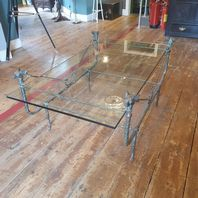 Fox Head Glass Coffee Table Based on the original piece by Diego Giacometti